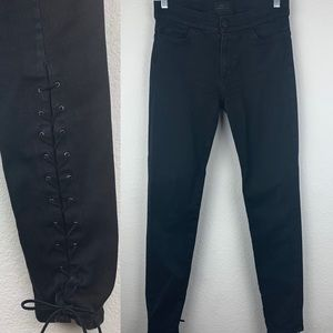 Hudson x Georgia May Jagger Lace Up Jeans A4